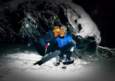 Myöhäisillan hiihtoretki OAC karvapohjasuksilla (4 tuntia)
