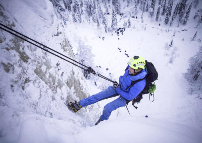 Ice climbing adventure in Korouoma Nature reserve